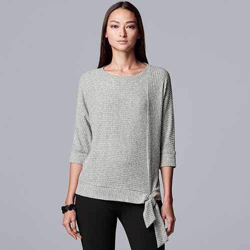 Petite Simply Vera Vera Wang Cozy Ribbed Dolman Top