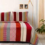 Greenland Home Marley Cranberry Quilt Set