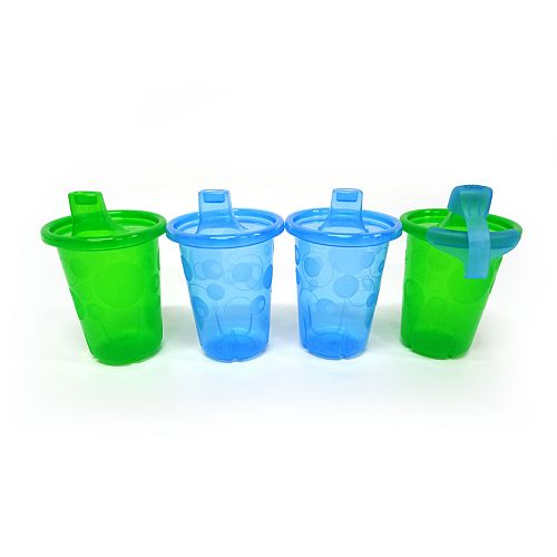 The First Years Take & Toss Blue/Green Sippy Cups 10 Oz. 4-Pc.