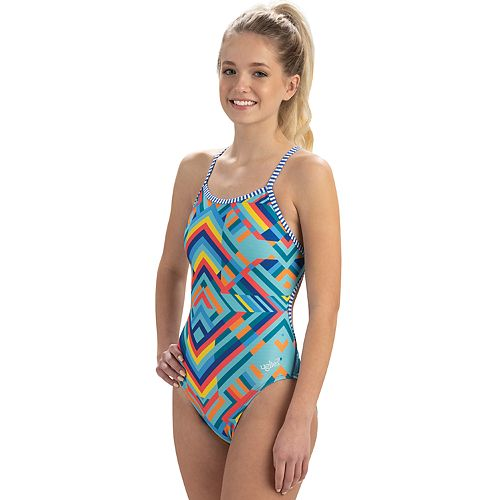 Women's Dolfin Uglies Printed String-Back One-Piece Swimsuit