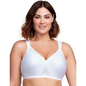 Glamorise Bra: Soft Shoulders Full-Figure T-Shirt Bra 1080