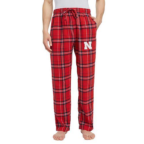 Men's Nebraska Cornhuskers Hillstone Flannel Lounge Pants