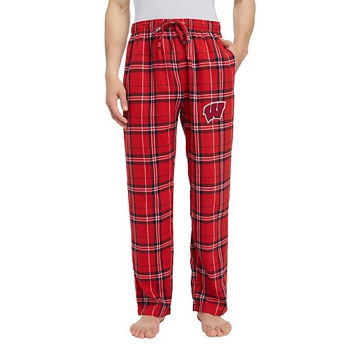Men's Wisconsin Badgers Hillstone Flannel Lounge Pants