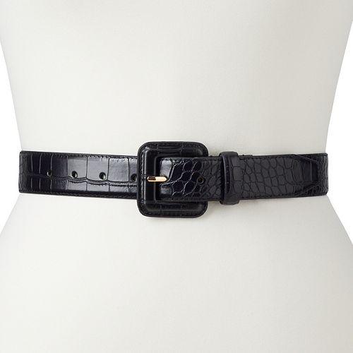 Women's & Plus Apt. 9® Crocodile Print Cover Buckle Belt