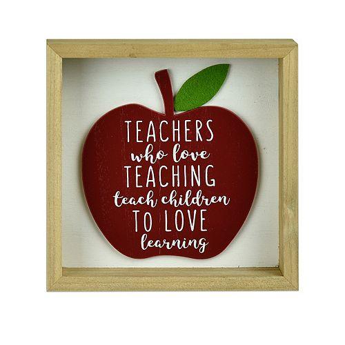 Belle Maison Teachers Who Love Teaching 6x6 Art Box