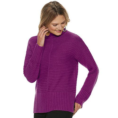 Women's Apt. 9® Long Sleeve Mock Neck Pullover