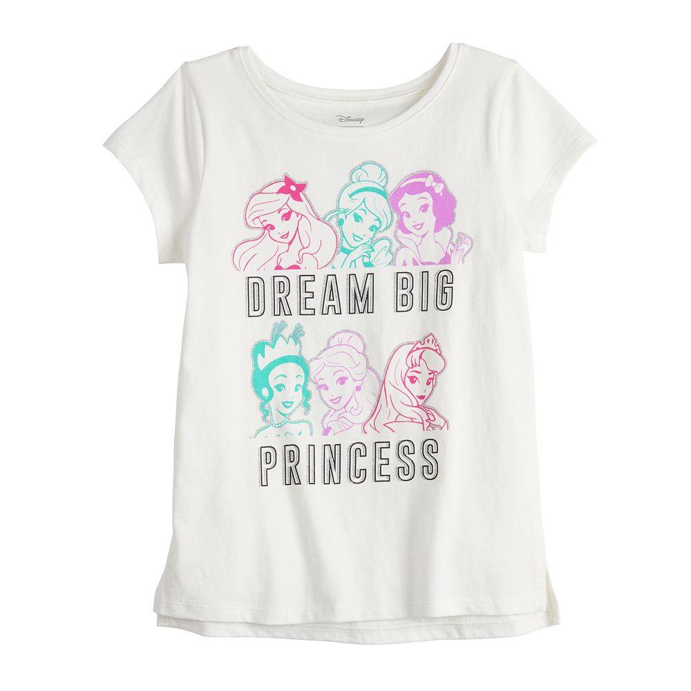 Disney Princess Girls 4-12 High-Low Hem Short Sleeve Tee by Jumping Beans®