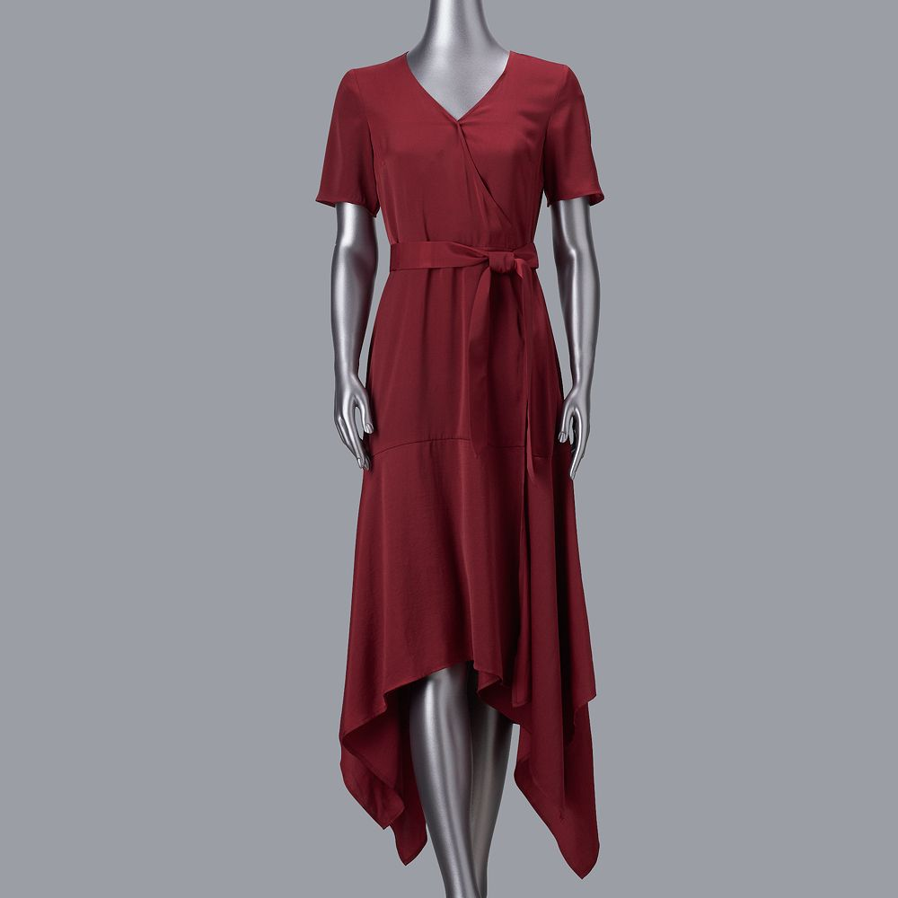 Petite Simply Vera Vera Wang Easy Wrap Dress