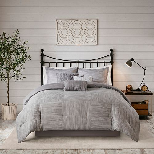 Madison Park Clayton 7-Piece Printed Seersucker Comforter Set