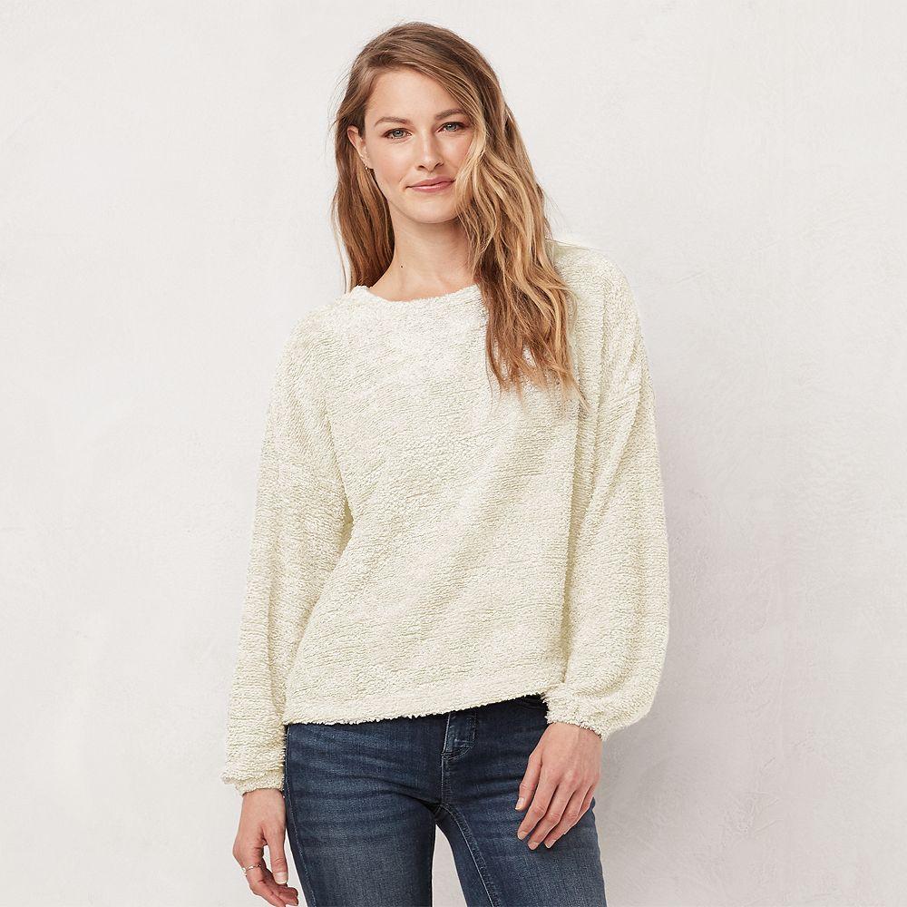 Women's LC Lauren Conrad Cozy Drop-Shoulder Sweater