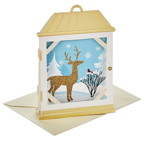 Hallmark 8-Count Reindeer Lantern Christmas Pop Up Boxed Cards