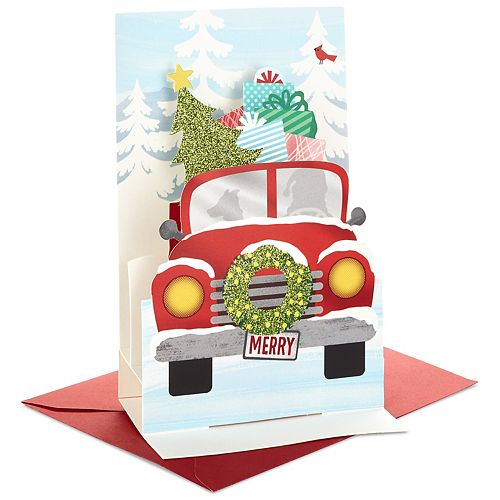 Hallmark 8-Count Red Truck Christmas Pop Up Boxed Cards
