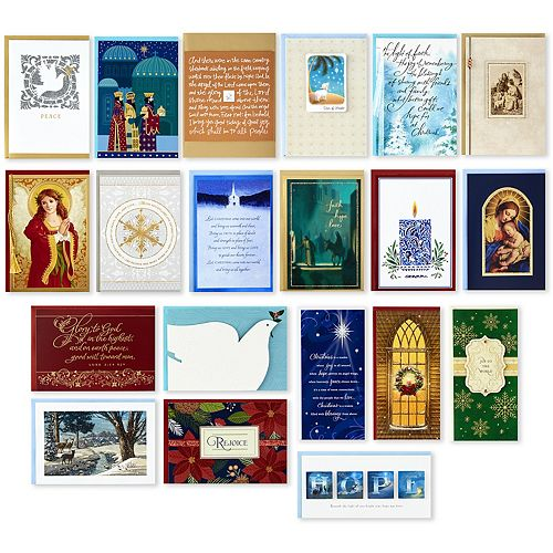 Hallmark 20-Count Assorted Religious Handmade Christmas Boxed Cards