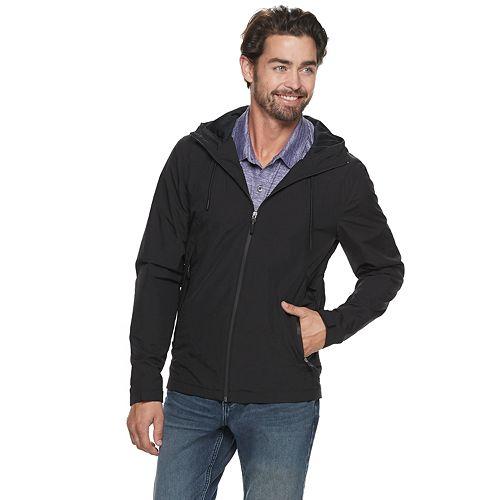Men's Marc Anthony Slim-Fit Solid Hooded Rain Jacket