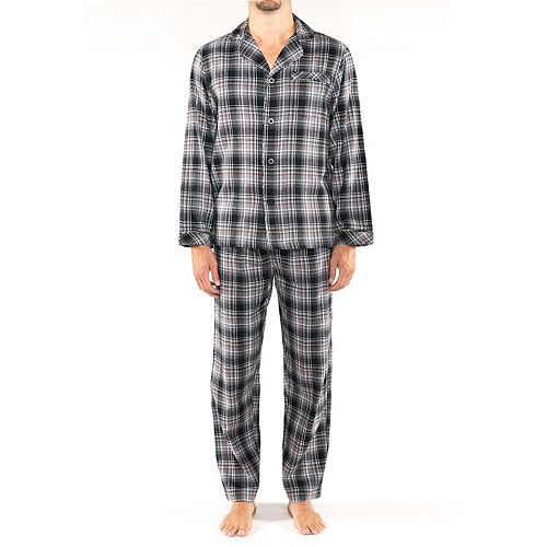 Men's Residence Big and Tall Flannel Pajama Set