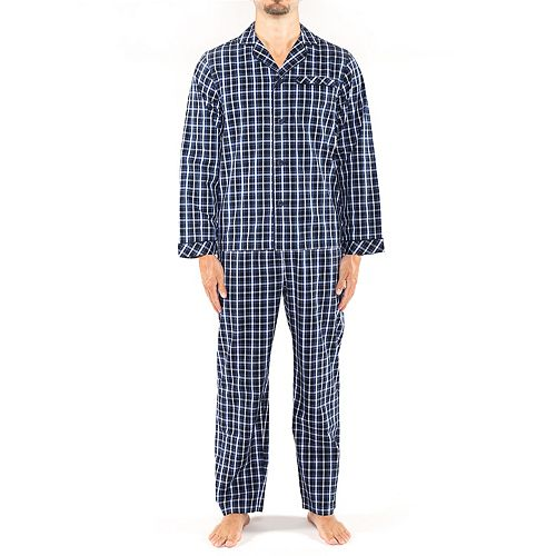 Men's Residence Big and Tall Poplin Long Sleeve Pajama Set