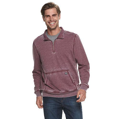 Men's Heritage Quarter-Zip Burnout Fleece Pullover
