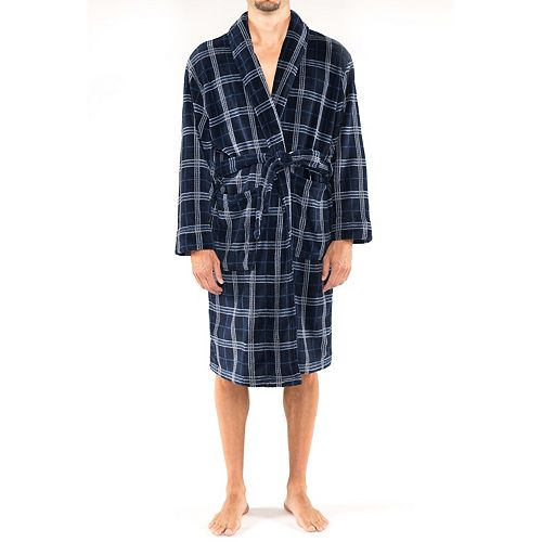 Men's Residence Big and Tall Plush Fleece Shawl Robe