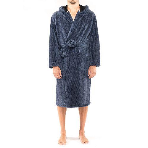 Men's Residence Big and Tall Shagster Hooded Fleece Robe