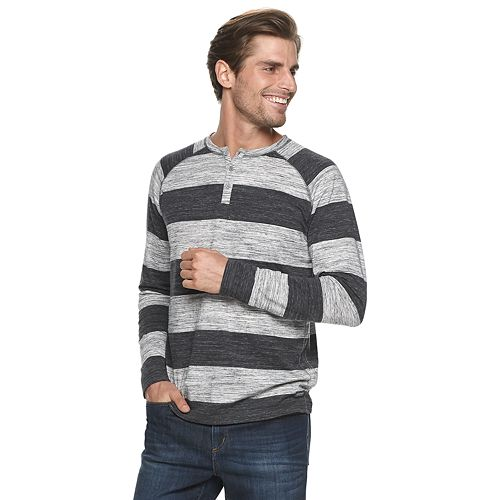 Men's Heritage Raglan Striped Henley Shirt