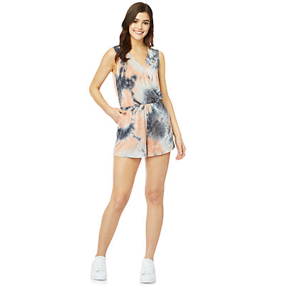 Juniors' WallFlower Tie-Dye Knit Romper