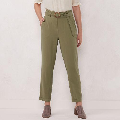 Women's LC Lauren Conrad Slim-Fit Paper Bag Trouser Pants