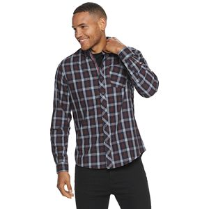 Men's Heritage Modern-Fit Patterned Button-Down Sport Shirt