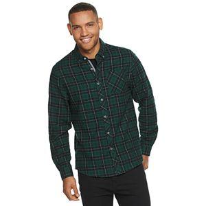 Men's Heritage Modern-Fit Plaid Flannel Button-Down Shirt