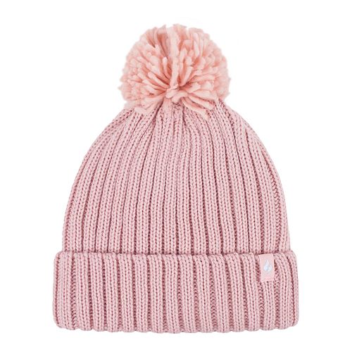 Women's Heat Holders Pom Ribbed Knit Cuffed Beanie