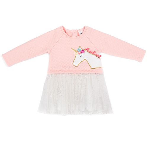 Baby Girl Little Lass Quilted Tulle Dress