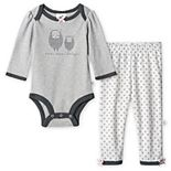 Baby Girl Just Born® Lil' Lamb Organic Bodysuit and Pant Set