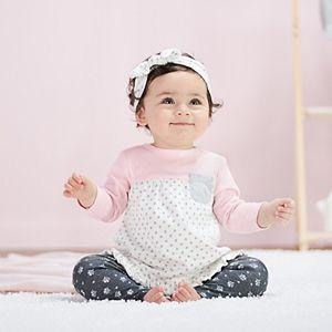 Baby Girl Just Born Lil' Lamb Organic 3-Pack Headbands