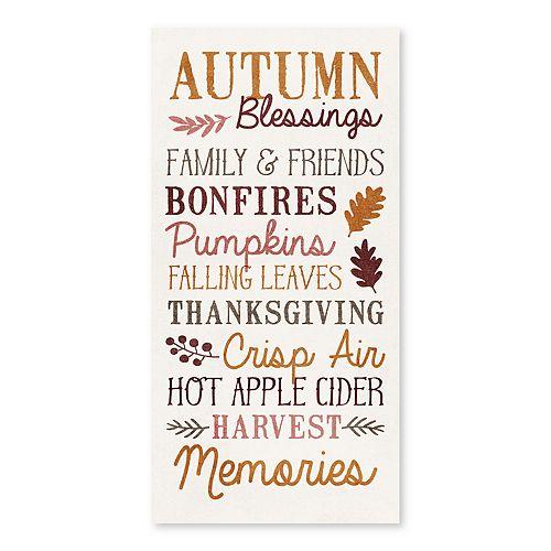 Artissimo Autumn Blessings Canvas Wall Decor