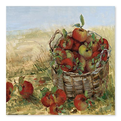Artissimo Apple Picking II Canvas Wall Decor