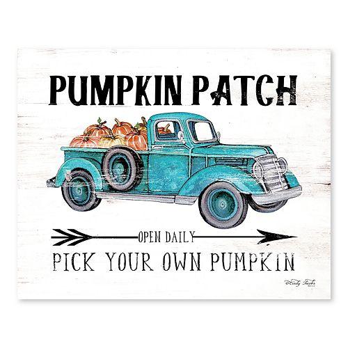 Artissimo Pumpkin Patch Canvas Wall Decor