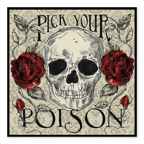 Artissimo Pick Your Poison Canvas Wall Decor