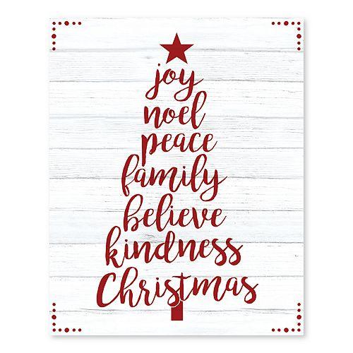 Artissimo Words of Christmas Canvas Wall Decor