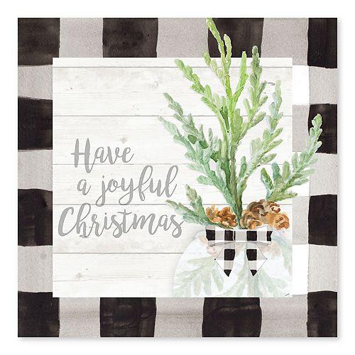 Artissimo Joyful Christmas Canvas Wall Decor