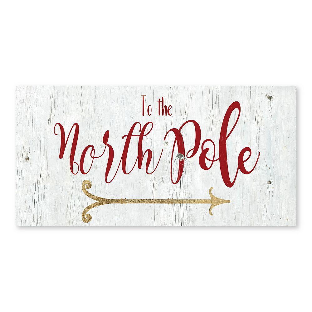 Artissimo North Pole Canvas Wall Decor