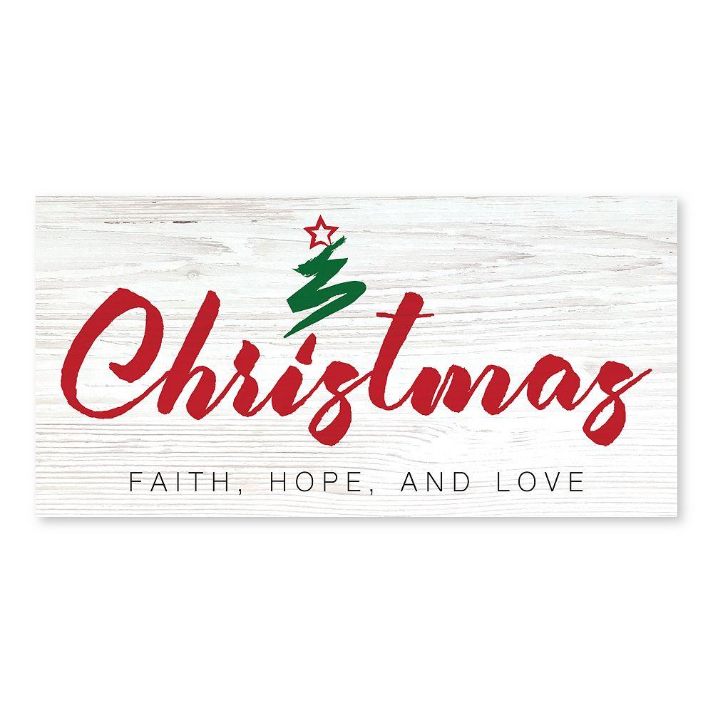 Artissimo Christmas Faith Canvas Wall Decor