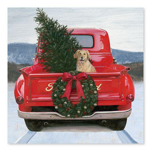 Artissimo Christmas in the Heartland Canvas Wall Decor