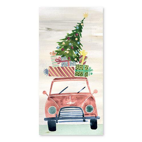 Artissimo Christmas Rush Canvas Wall Decor