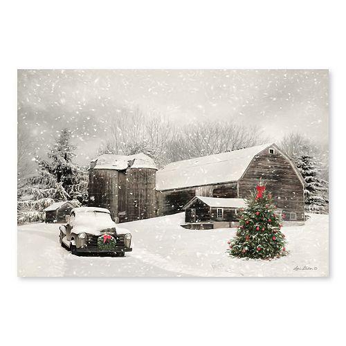 Artissimo Farmhouse Christmas Canvas Wall Decor