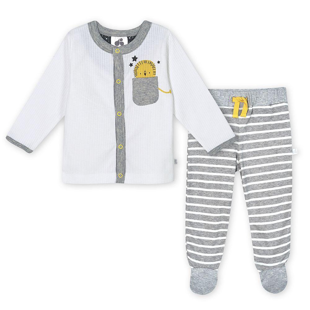 Baby Boy Just Born Lil' Lion 3-piece Organic Take-Me-Home Set