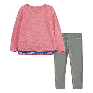 Toddler Girls Nike Long Sleeve Colorshift Graphic T-Shirt