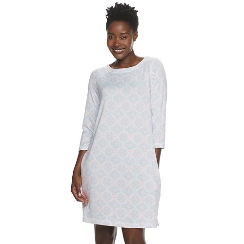 Women's Croft & Barrow® Whisperluxe 3/4 Sleeve Sleepshirt