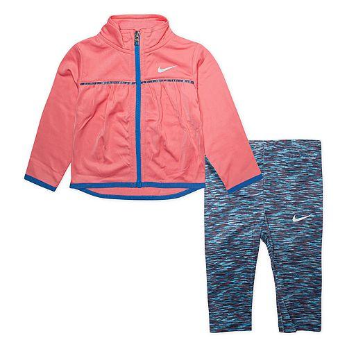 Toddler Girl Nike Zip Jacket & Leggings Track Set