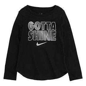 "Toddler Girl Nike Long Sleeve ""Gotta Shine"" Graphic Tee"