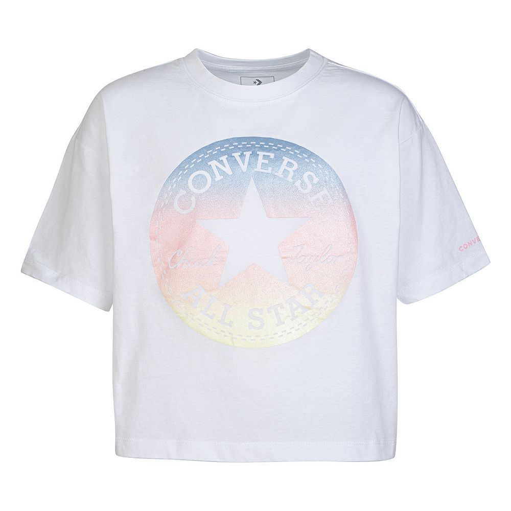 Girls' 7-16 Converse Ombre Chuck Patch Logo Boxy T-Shirt