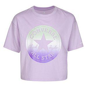 Girls' 7-16 Converse Ombre Chuck Patch Logo Boxy T-Shirt